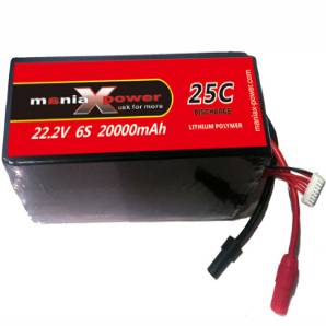 ManiaX 22.2V 20,000mAh multi-rotors lipo battery pack