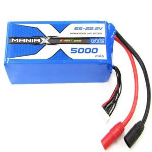 ManiaX 22.2V 5000mAh 60C Lipo Battery Pack